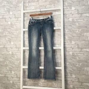 Miss Me Boot Cut Jeans Fleur De Lis Size 26